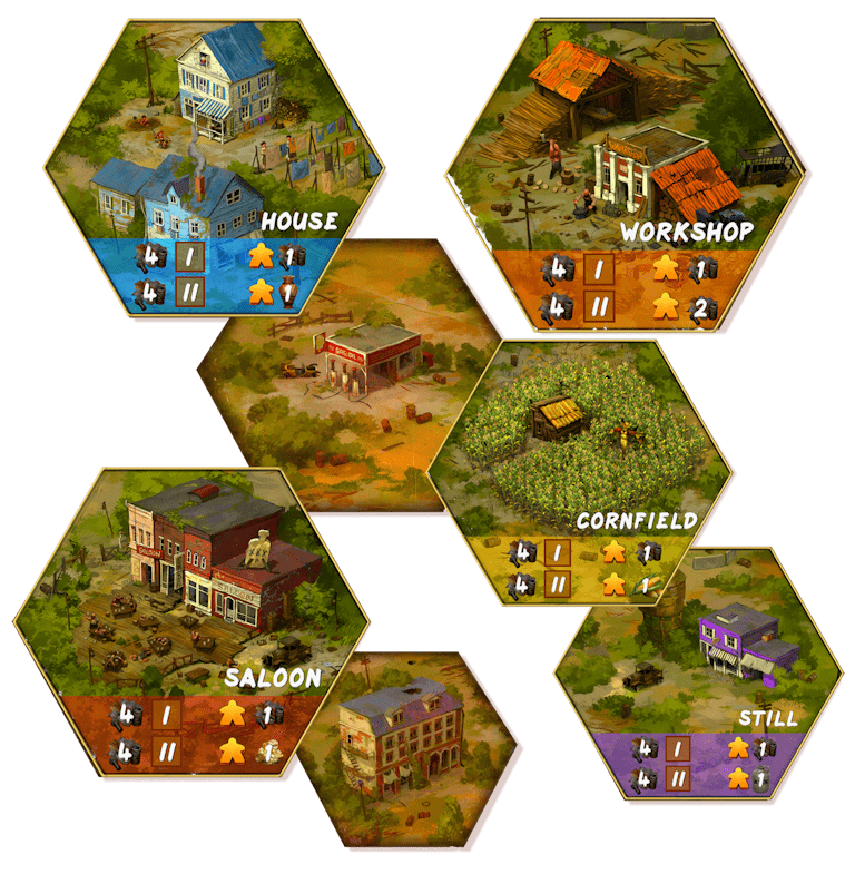 Moonshiners of the Apocalypse Boardgame | Powered by